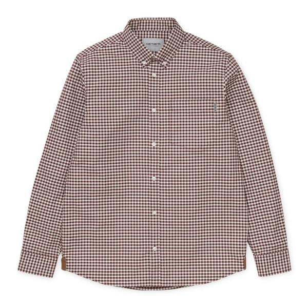 "Carhartt L/S Bintley Shirt ""Bintley Check, Bordeaux"" I028228"