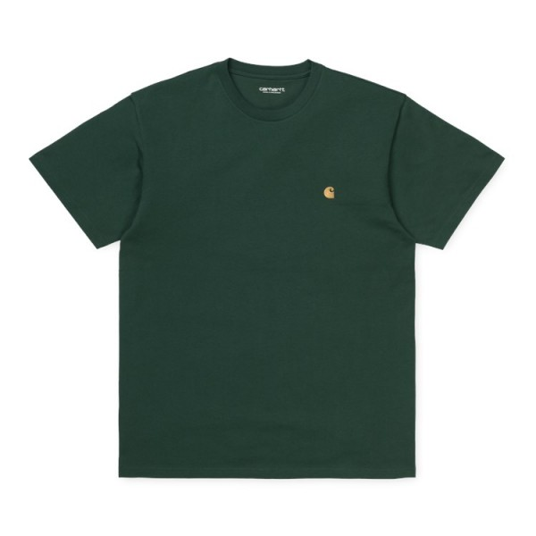 """Carhartt WIP S/S Chase T-Shirt """"Bottle Green / Gold"""" I026391"""
