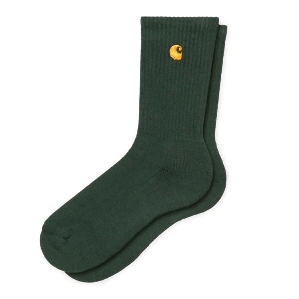 """Carhartt WIP Chase Socks """"Bottle Green / Gold"""" I026527"""