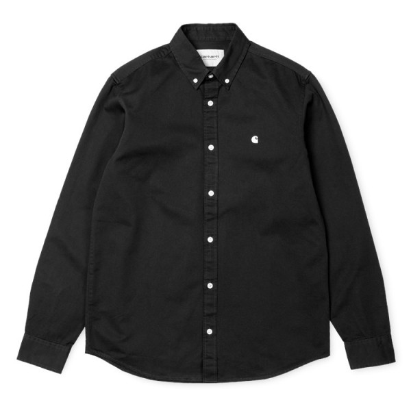"Carhartt WIP L/S Madison Shirt ""Black / White"" I023339"