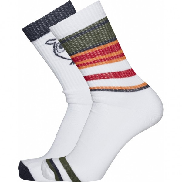 2 Pack Striped Tennis Socks