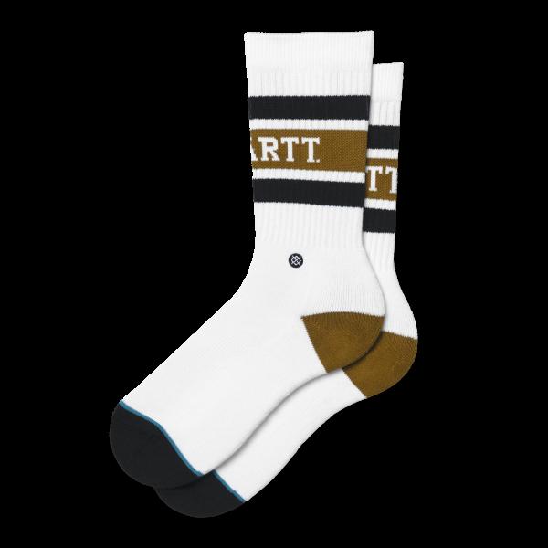 "Carhartt WIP X Stance Strike Socks ""White / Black / Hamilton Brown"" I027799"