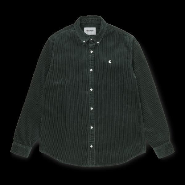 """Carhartt WIP L/S Madison Cord Shirt """"Dark teal / Wax"""" I025247"""