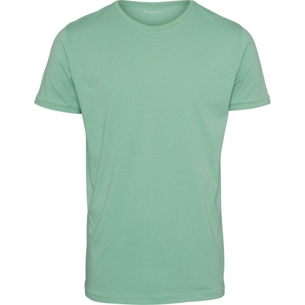 "Knowledge Cotton Basic Loose Fit-O Neck Tee ""Dusty Jade Green"" 10110"
